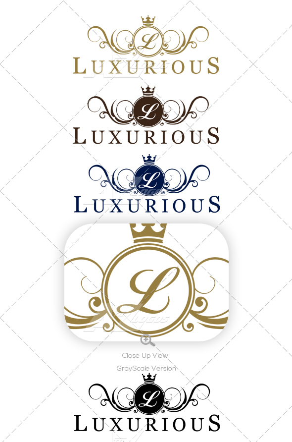 Luxurious Logo Starting With Letter L